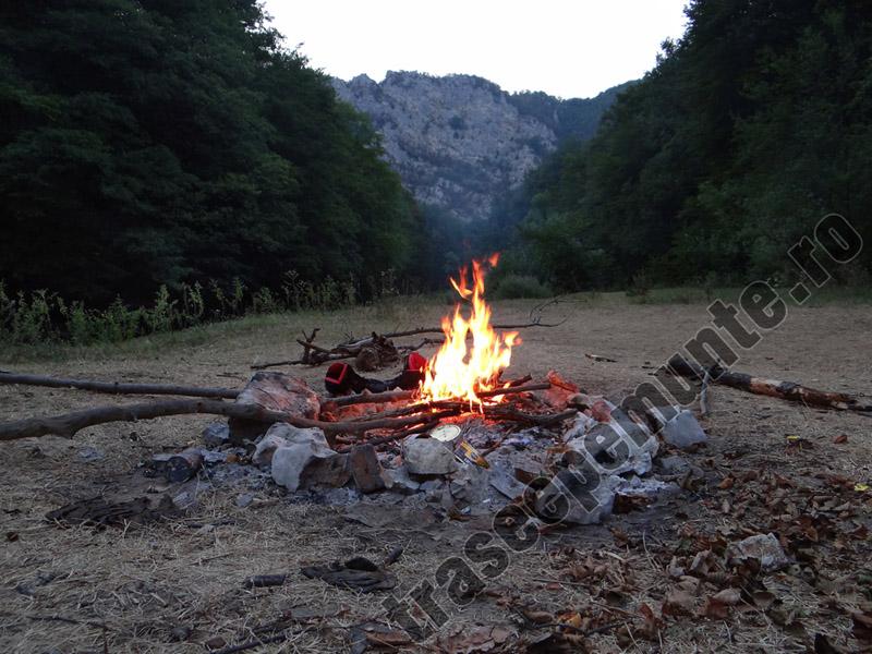 Foc in camping